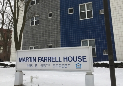 Martin Farrell House exterior with sign